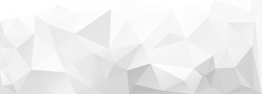 Abstract white geometric triangle 3D background. Vector Illustration.