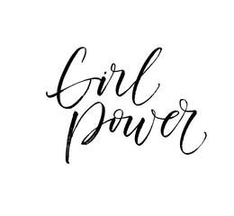 Garden Poster Positive Typography Girl power card. Hand drawn brush style modern calligraphy. Vector illustration of handwritten lettering.
