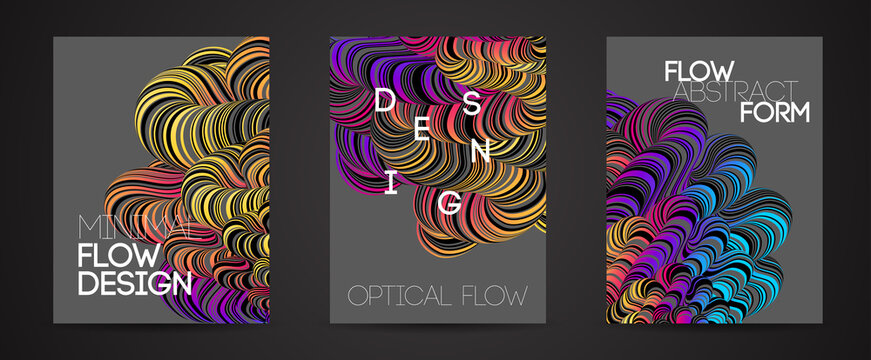 Modern abstract design background Rainbow Flow motion