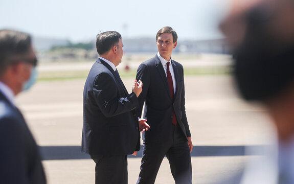 U.S. President Trump arrives at Dallas Love Field Airport in Dallas, Texas
