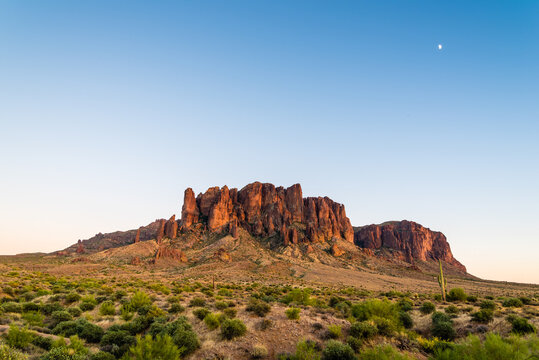 Moonrise over Superstition Mountain