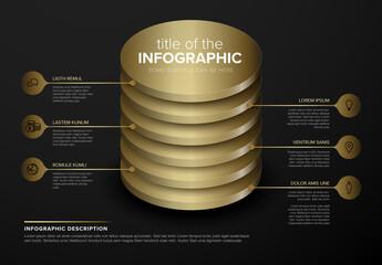 Dark Layered Infographic