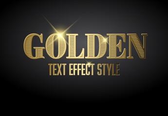 Golden Metallic Text Effect with Glitter