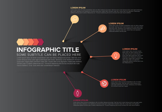 Multipurpose Dark Infographic with Droplet Pointers