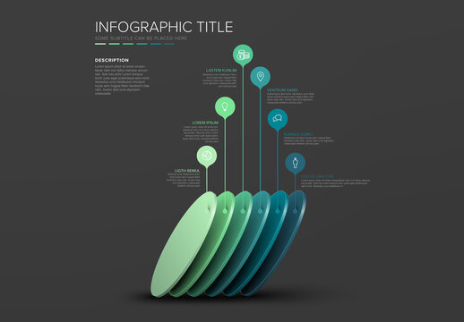 Infographic with Slanted Circular Elements