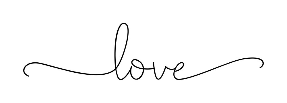 LOVE. Lettering typography poster vector design for valentines day, romantic, wedding banner. Modern calligraphy script love. Hand drawn modern brush calligraphy text - love . Print for tee shirt.