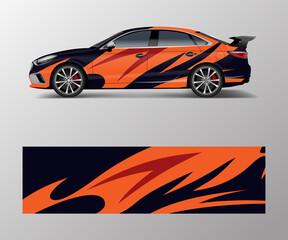 Car wrap design for sport car. Car wrap design for branding, services, company.