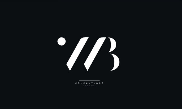 WB Letter Logo Alphabet Design Icon Vector Symbol