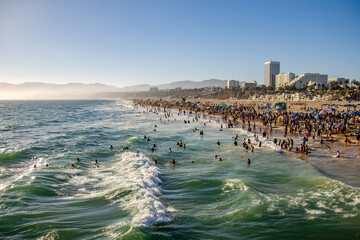 View of Santa Monica Beach in Los Angeles