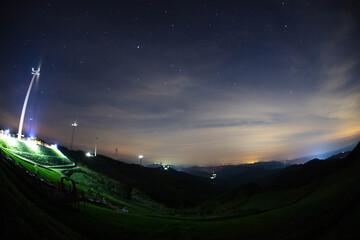 밤하늘 Fotobehang