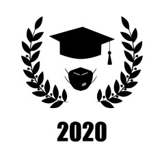 2020 quarantine extreme graduation party graduate vectorimage