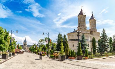 Wall Mural - Landscape with central square in Iasi, Moldavia, Romania
