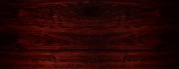 Dark cherry wood texture, wooden background. Top view