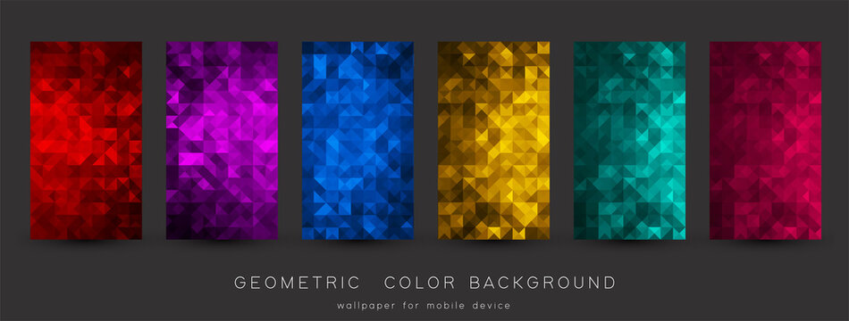 Abstract colorful background with triangles. Shiny geometric mosaic