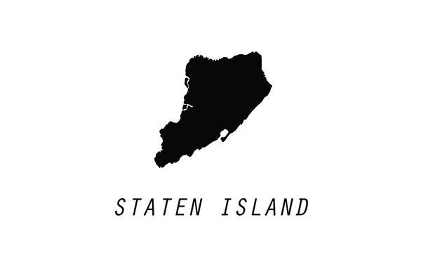 Staten Island New York CIty borough city shape vector illustration