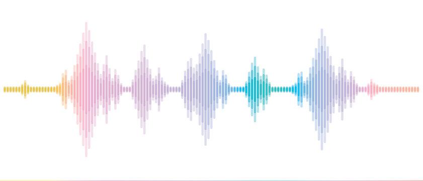 周波数の波 音楽や地震の電波 sound wave and Earthquake Wave