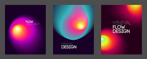abstract backgrounds with vibrant gradient shapes. Design template for covers and posters
