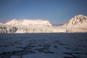 Lodowcowy krajobraz Arktyki