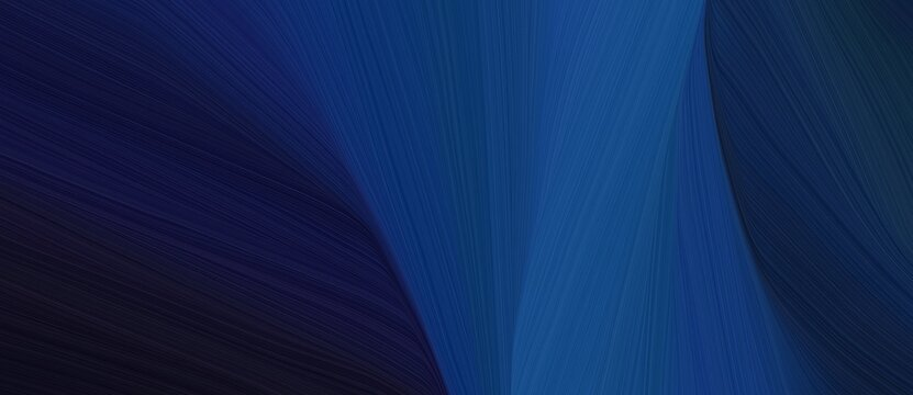 chaotic curved speed lines background or backdrop with very dark blue, dark slate blue and midnight blue colors. can be used as card background