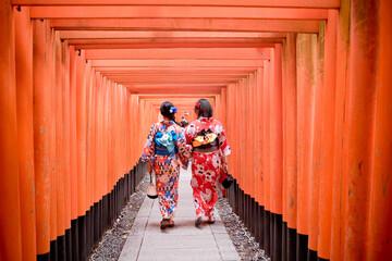 Autocollant pour porte Kyoto 古都、着物