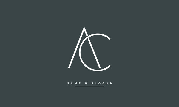 AC ,ca ,a ,c abstract letters logo monogram