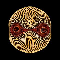 Fototapeta twarz buzia maska obcy kosmita obraz
