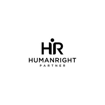 Creative Illustration. modern H,R sign geometric logo design template