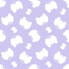 butterfly pattern seamless. cartoon butterfly background. Good for wallpaper, design for fabric and decor.