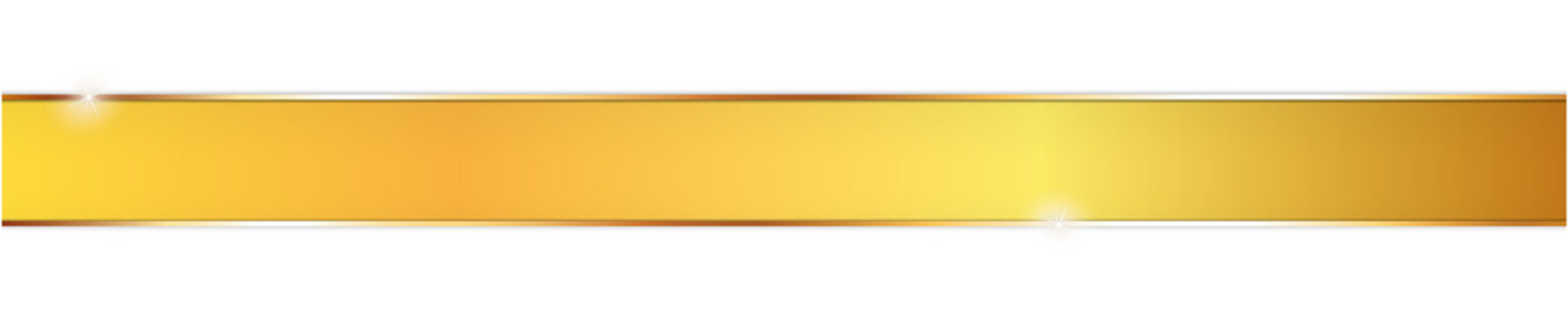 long yellow ribbon banner on white background