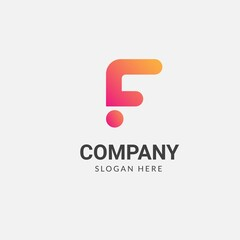Letter F logo design simple with gradient creative concept, vector illustrations