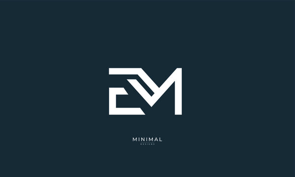 Alphabet letter icon logo EM