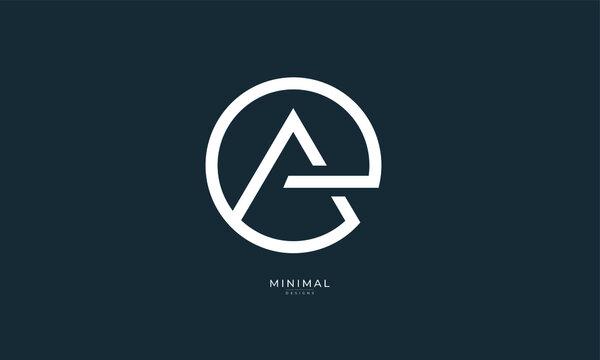 Alphabet letter icon logo EA or AE