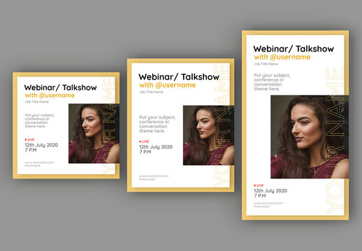 Webinar Talk Show Social Media Layout Set