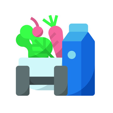 Healthy lifestyle vector icon for web and design