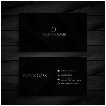dark black business card design