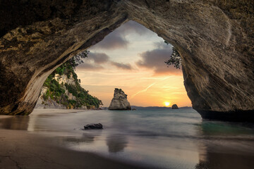 Poster Cathedral Cove New Zealand views
