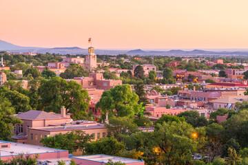 Fototapete - Santa Fe, New Mexico, USA Downtown Skyline
