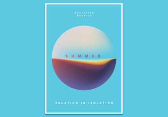 Minimalistic Modern Poster Layout with Gradient Sphere