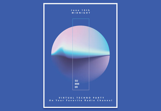 Abstract Modern Poster Layout with Gradient Circle
