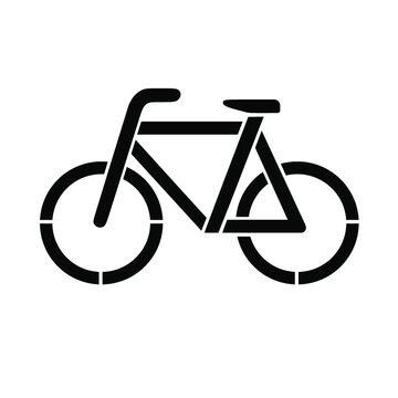bike silhouette icon vector stencil