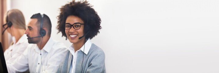 Portrait Of A Female Customer Service Executive