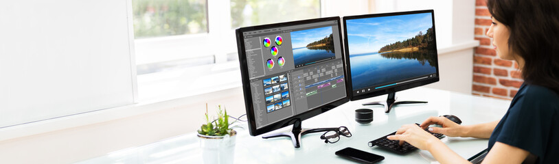 Video Editor Using Software For Edit