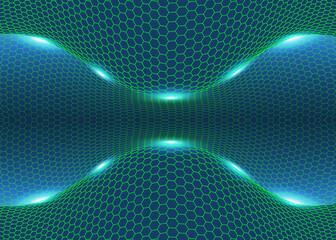 Hexagonal perspective background