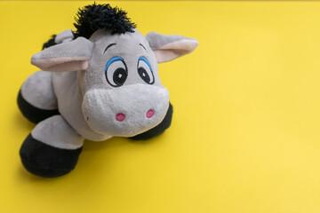 donkey on orange background