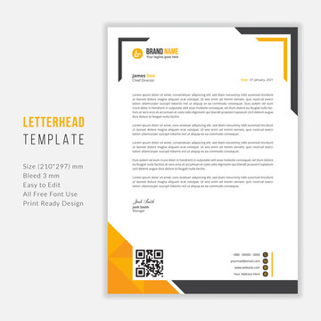 Simple Modern Letterhead vector template design. Creative & Clean business style print ready letterhead for your corporate project.