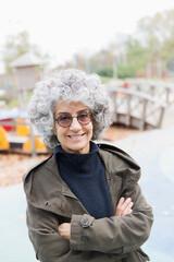 Portrait smiling, confident senior woman
