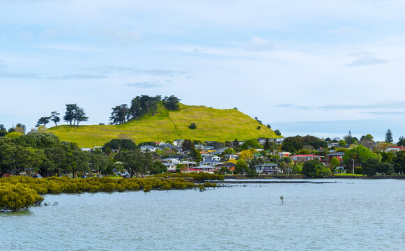 Panoramic View of Mangere Mountain, Auckland New Zealand