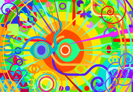 Color Primary Abstract, Hypnosis