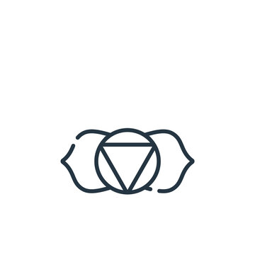 ajna vector icon. ajna editable stroke. ajna linear symbol for use on web and mobile apps, logo, print media. Thin line illustration. Vector isolated outline drawing.