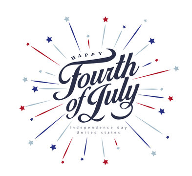 Independence day USA banner template .4th of July celebration poster template.fourth of july vector illustration .